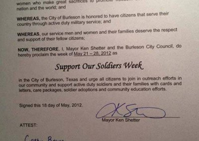 support our soldiers in the community